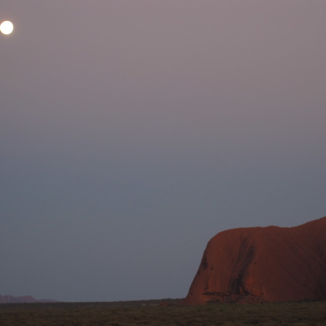 """Sunrise at Uluru (Ayers Rock)"" stock image"