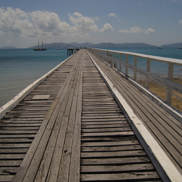 """Dock in the Whitsundays"" stock image"