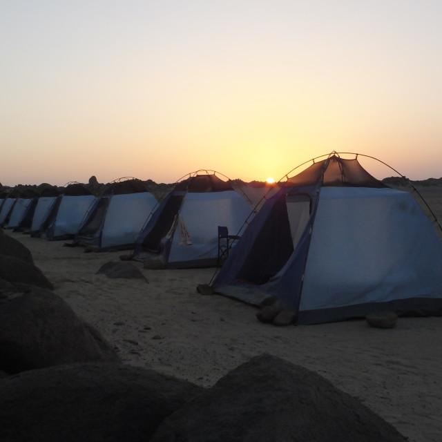 """""""sunrise Nubian mornings"""" stock image"""