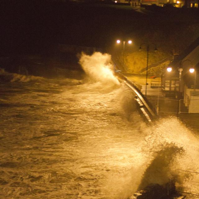 """Hercules Storm at Towan, Newquay"" stock image"