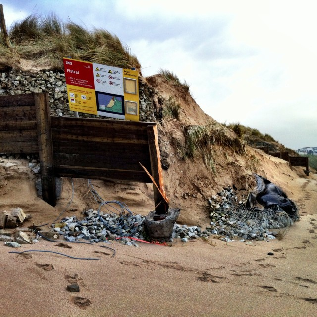 """Dune destruction Fistral"" stock image"