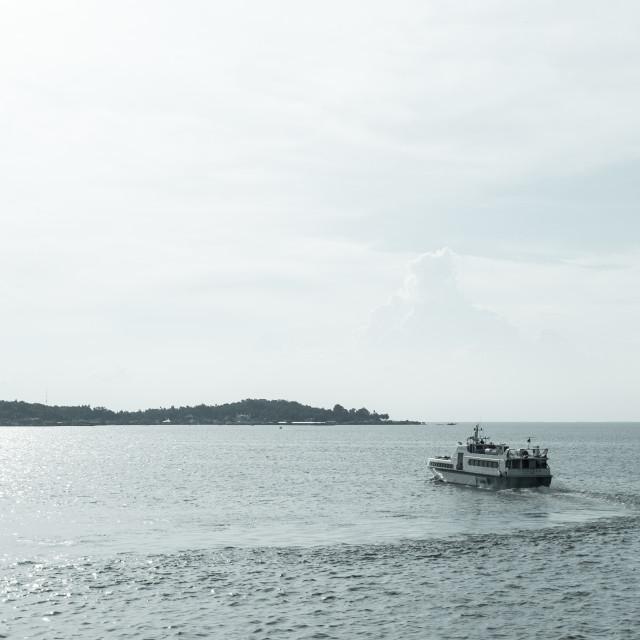 """Journey to island"" stock image"