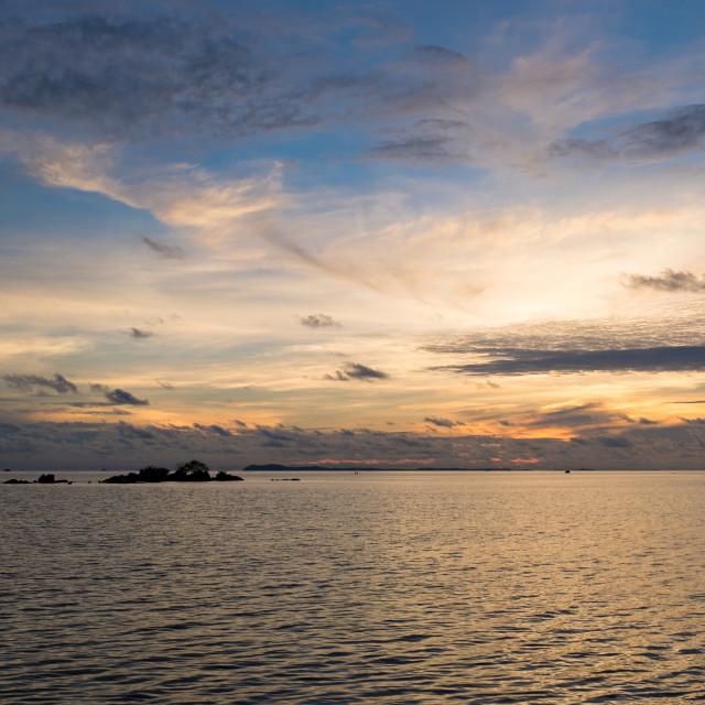 """Trikora sunrise"" stock image"