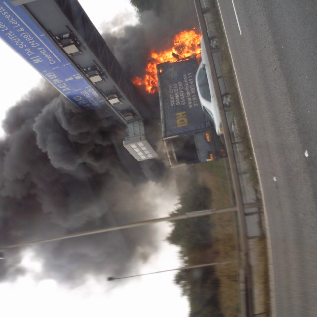 """Lorry Fire"" stock image"