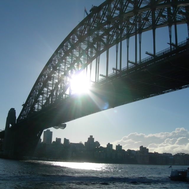 """Sydney Harbour Bridge in the sun"" stock image"