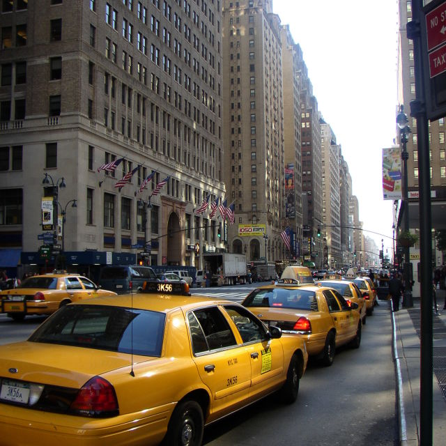 """New York Cabs"" stock image"