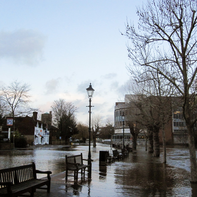 """Flooding in Guildford"" stock image"