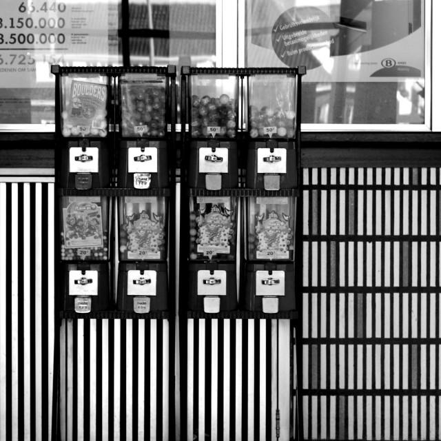 """Gumball dispensers"" stock image"