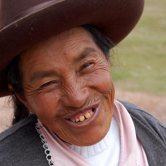 """Smiling woman"" stock image"