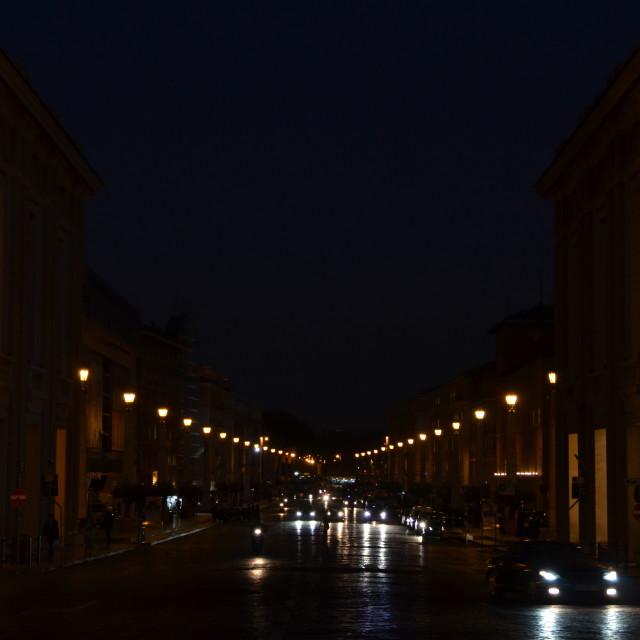 """""""Via della Conciliazione"""" stock image"""