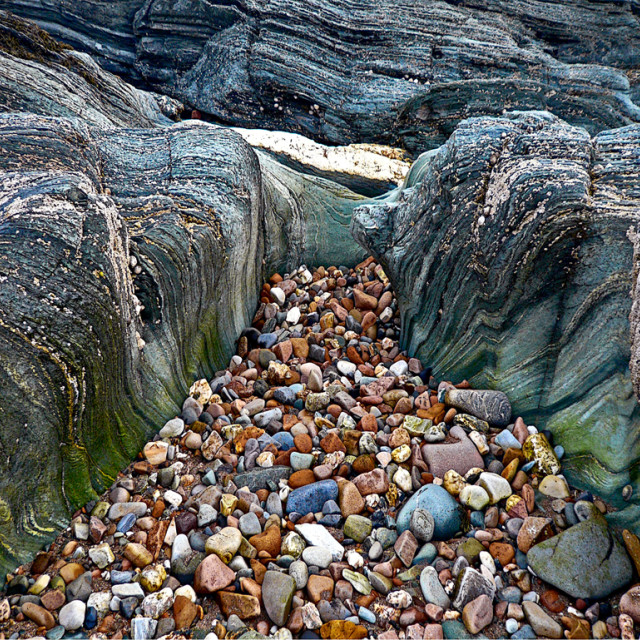 """""""Green Rocks and Pebbles"""" stock image"""