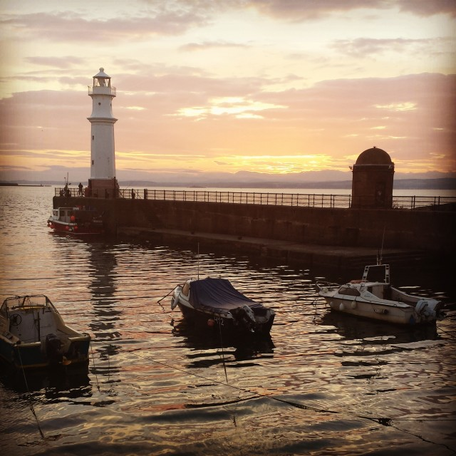 """Leith Newhaven Harbour."" stock image"