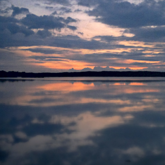 """""""Pale Watery Sunset"""" stock image"""