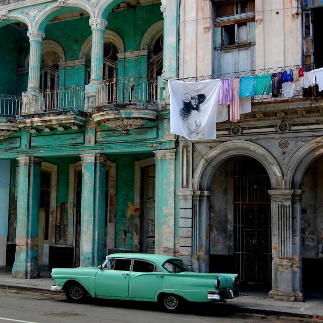 """""""Old car in Havana, Cuba"""" stock image"""