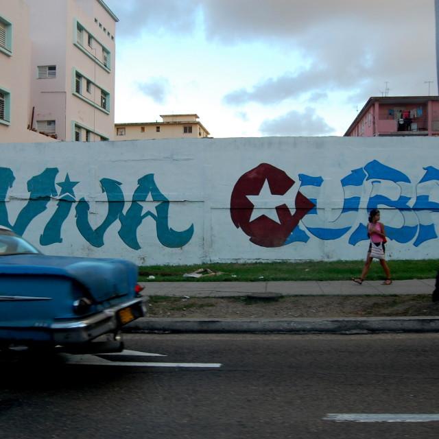 """Viva Cuba!"" stock image"