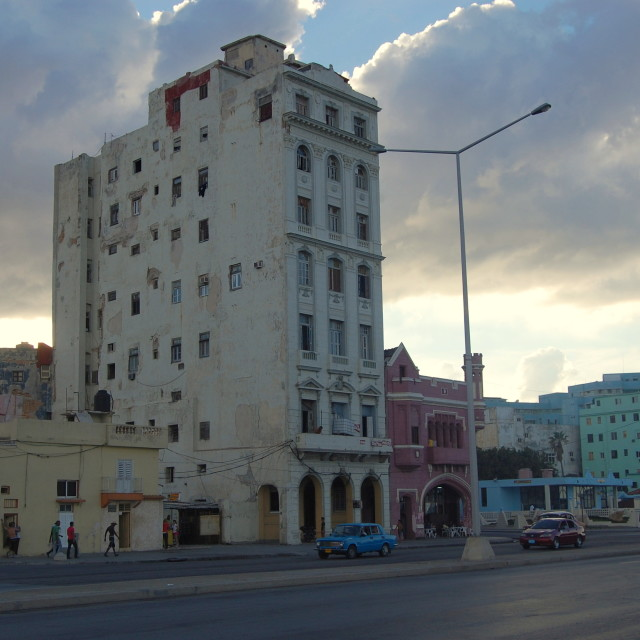 """""""Dusk in Havana, Cuba"""" stock image"""