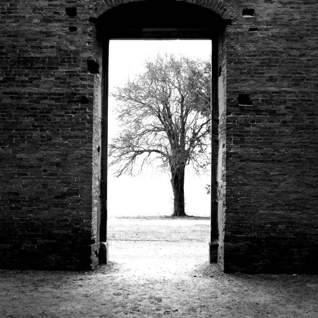 """Doorway to The Unknown"" stock image"