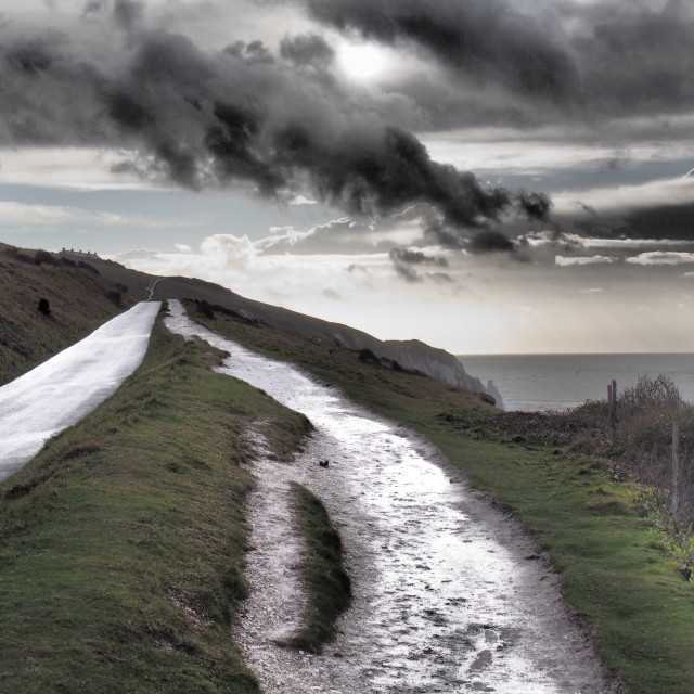 """Pathway to Needles, Isle of Wight"" stock image"