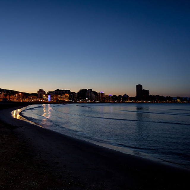 """Peñiscola la nuit"" stock image"