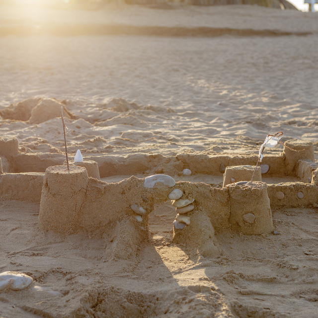 """Castles in the sand"" stock image"