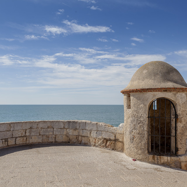 """watchtower over the sea"" stock image"
