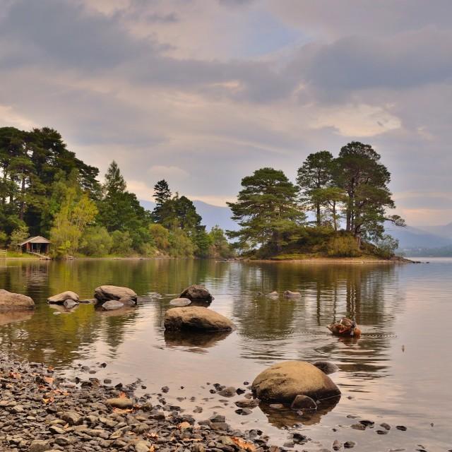 """""""Otter Island - Derwent Water near Keswick/ Lake District UK"""" stock image"""