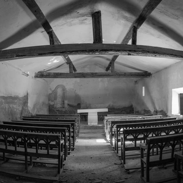 """""""Abandoned church"""" stock image"""