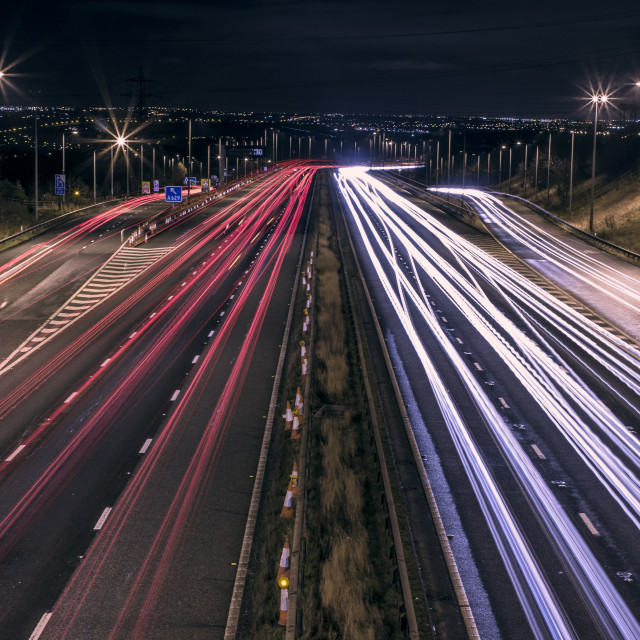 """""""Fast Lights to the City"""" stock image"""