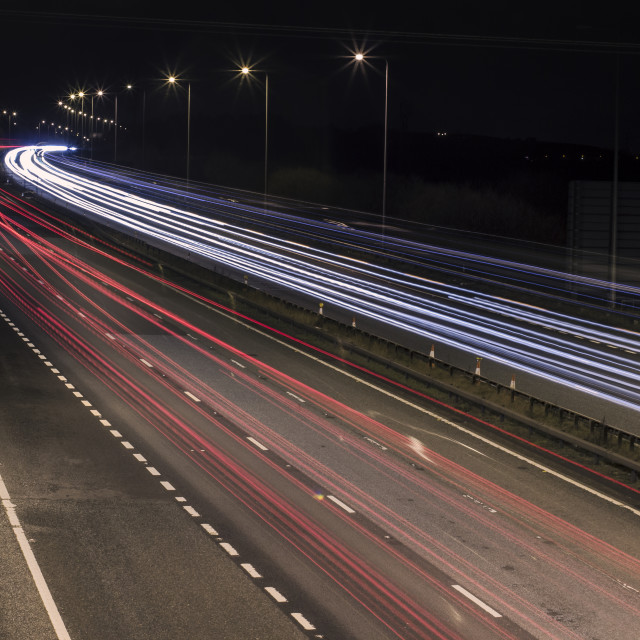 """""""Fast Lights to the City #2"""" stock image"""