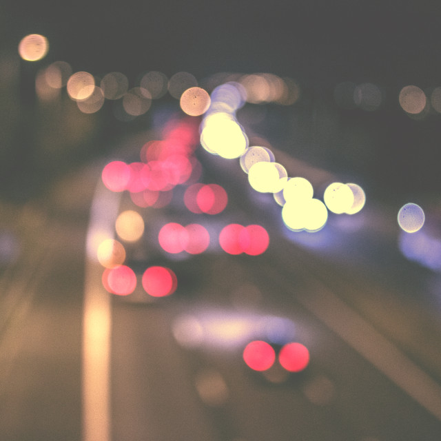 """Traffic Bokeh"" stock image"