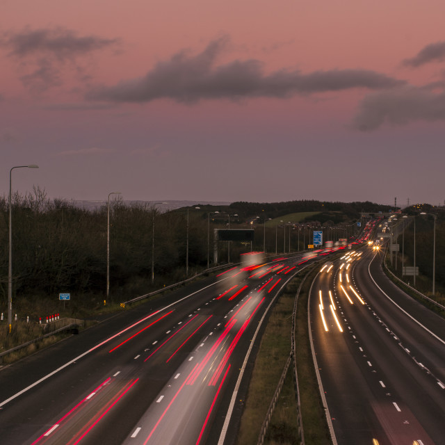 """M62 Light Trails"" stock image"