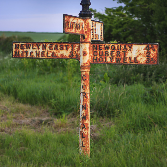 """""""Rusted sign"""" stock image"""