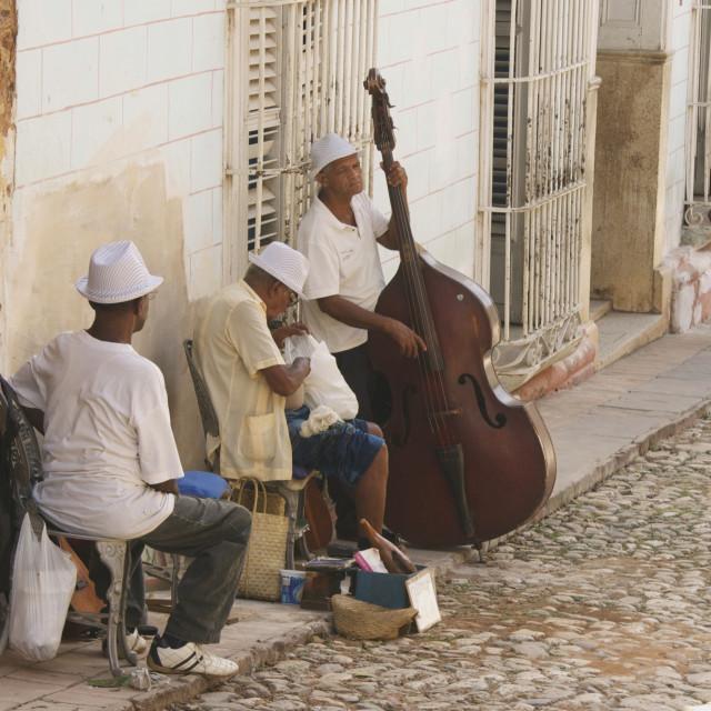 """Musicians in Cuba"" stock image"