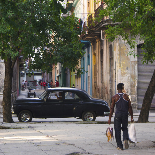"""Street life in Havana, Cuba"" stock image"