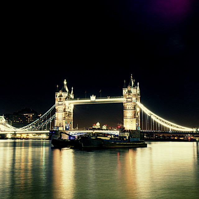 """Tower Bridge, Long Exposure"" stock image"