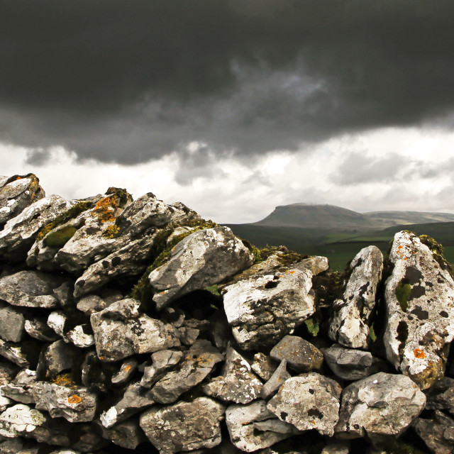 """Pen-y-ghent"" stock image"