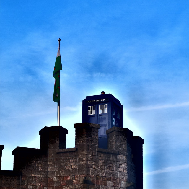 """Doctor Who's TARDIS in Cardiff"" stock image"