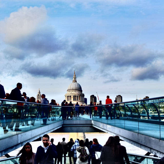 """View to St Pauls"" stock image"