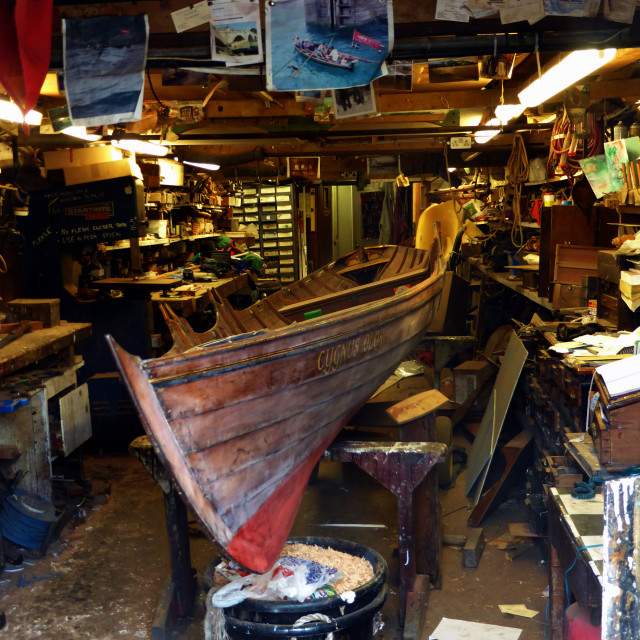 """Boatyard workshop"" stock image"