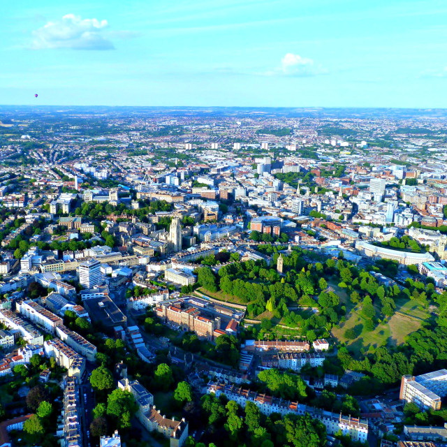 """Bristol from the air"" stock image"