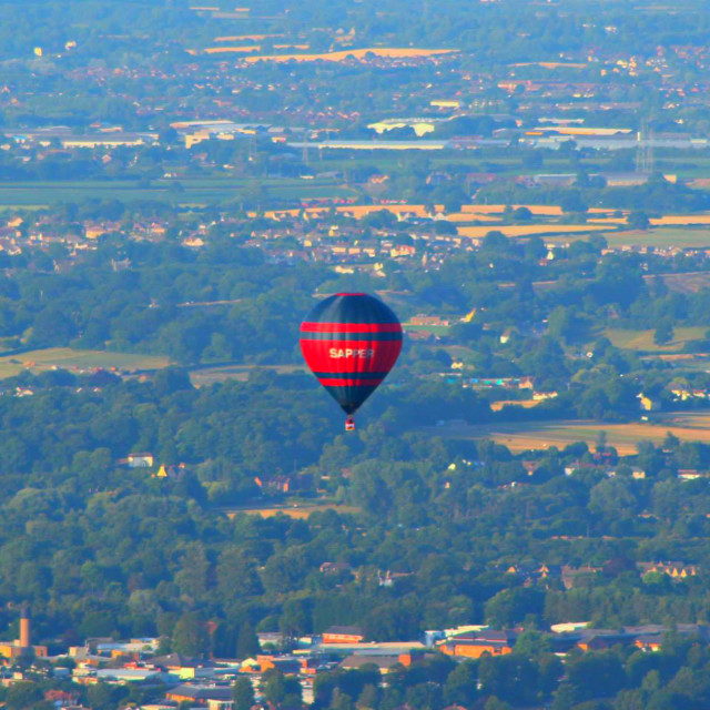 """Hot Air Balloon over Bristol"" stock image"