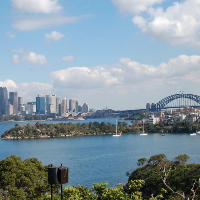 """Sydney Toronga Zoo View"" stock image"