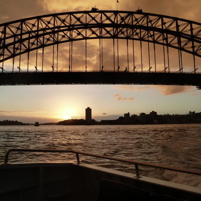 """""""Sydney Sunset"""" stock image"""
