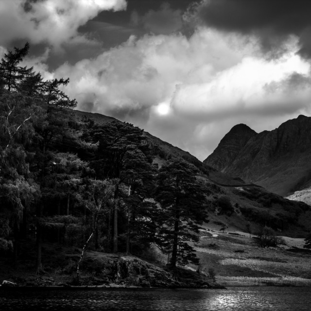 """""""The Tarn and the Mountain"""" stock image"""