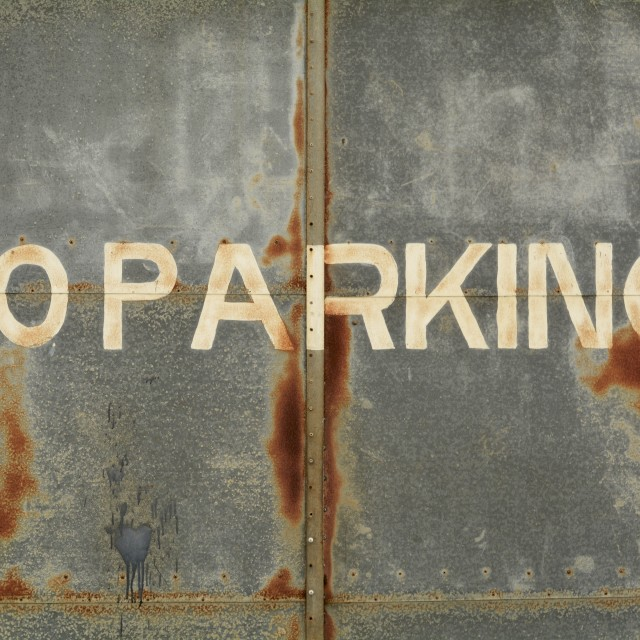 """NO PARKING"" stock image"