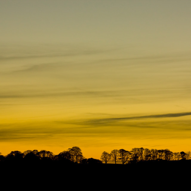 """""""Sunset over Yorkshire"""" stock image"""