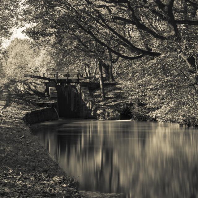 """Huddersfield Narrow Canal"" stock image"