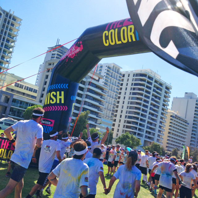 """Colour Run"" stock image"