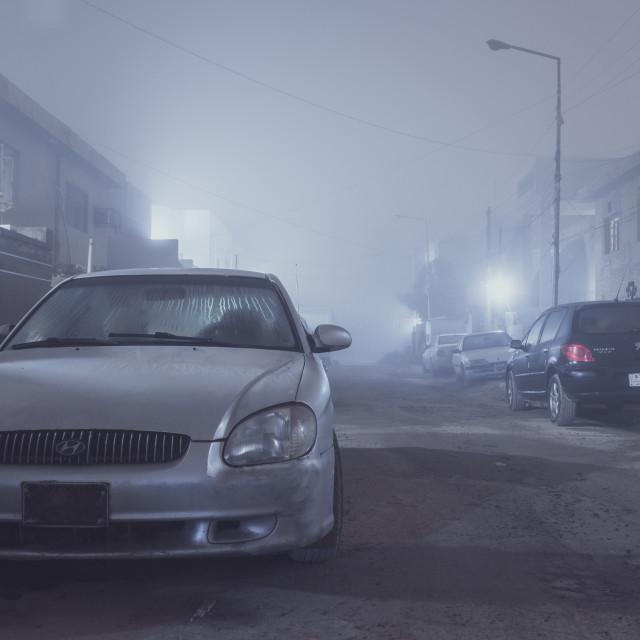 """Fog in Baghdad"" stock image"