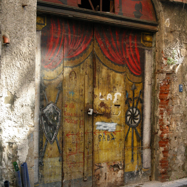 """Theatre Door"" stock image"